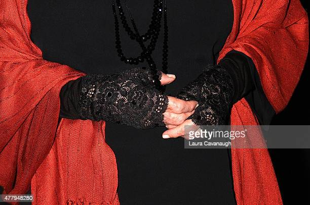 Petula Clark glove detail attends The Midtown Men Homecoming Concert at Beacon Theatre on June 20 2015 in New York City