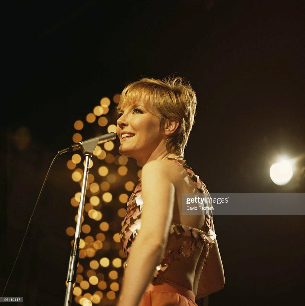 Petula Clark performs on a TV show in London c.1968. Image is part of David Redfern Premium Collection.