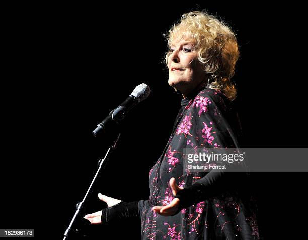 Petula Clark performs on the first night of her UK tour at The Lowry on October 2 2013 in Manchester England