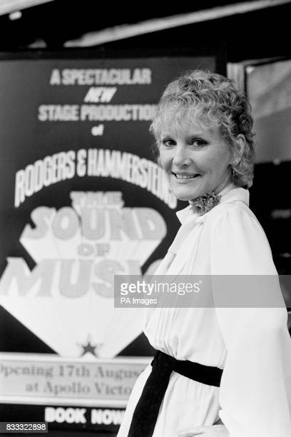 Petula Clark who would play Maria Von Trapp in the stage production of 'The Sound of Music' which opened at the Apollo Victoria Theatre London in 1981