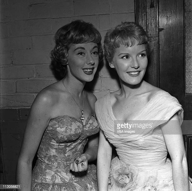 Petula Clark with Lorrae Desmond posed backstage 1960