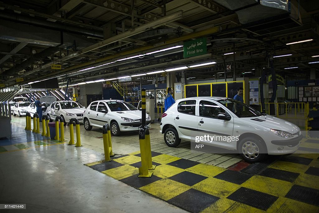 Peugeot Cars Are Seen On The Final Production Line At The Iran