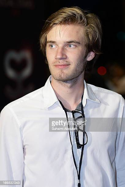 PewDiePie attends the Social Star Awards 2013 at Marina Bay Sands on May 23 2013 in Singapore