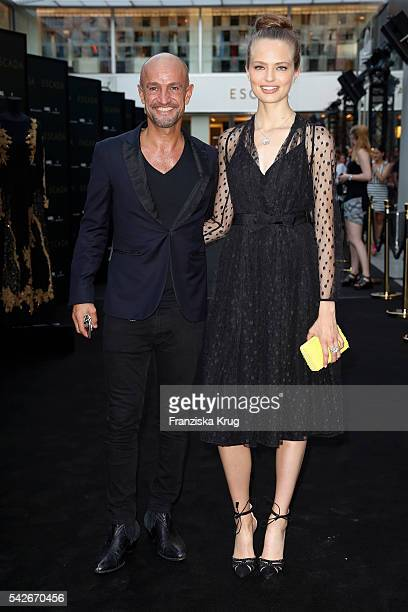 Peyman Amin and Anna Mila Guyenz attend the ESCADA Flagship Store Opening on June 23 2016 in Duesseldorf Germany