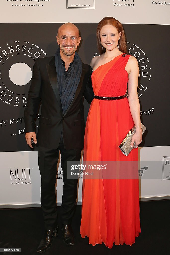 Peyman Amin and Barbara Meier attend the Natascha & Gernot Gruen 'Golden Red Christmas Night' Party on December 19, 2012 in Munich, Germany.