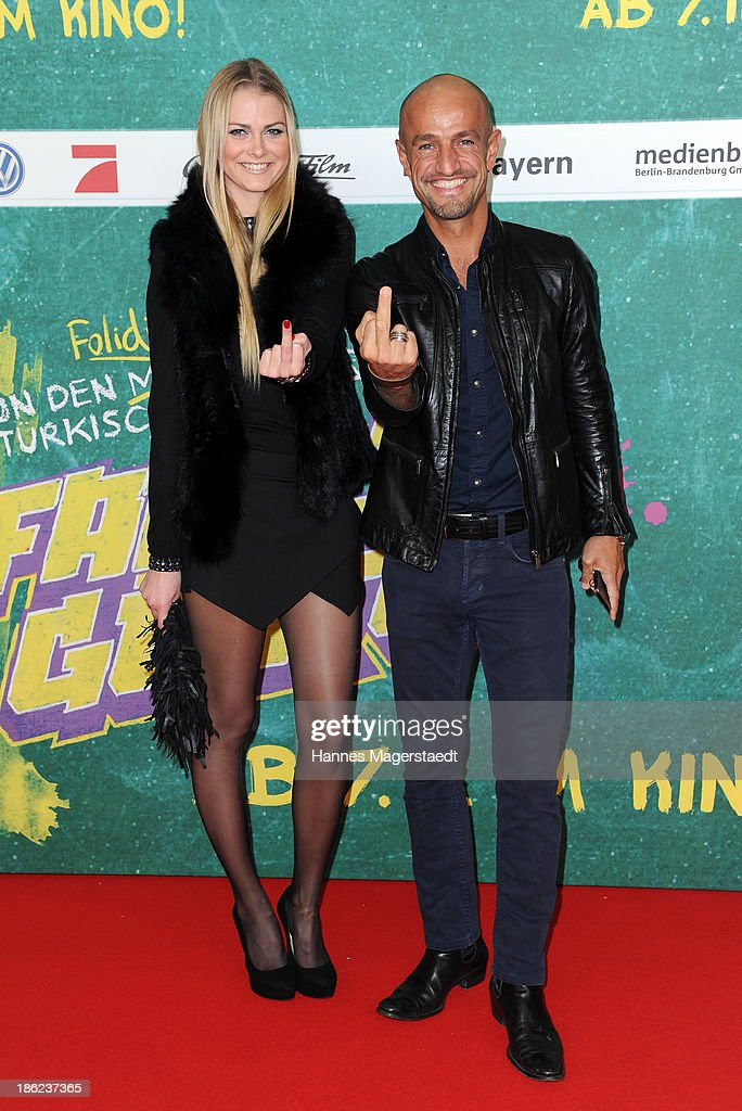 ÊPeyman Amin and Darya attend the premiere of the film 'Fack Ju Goehte' on October 29, 2013 in Munich, Germany.