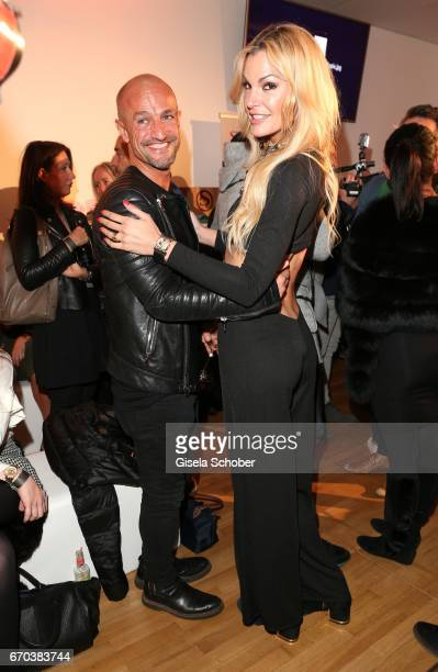 Peyman Amin and DJane Tanja LaCroix during the Just Eve spring fever fashion show on April 19 2017 in Munich Germany