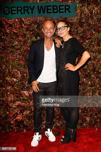 Peyman Amin and Doreen Dietel attend the Gerry Weber shop opening on September 14 2016 in Munich Germany