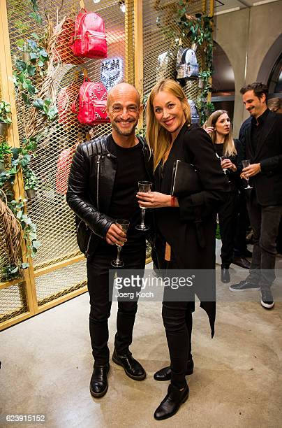 Peyman Amin and guest attend the MCM 40th Anniversary on November 17 2016 in Munich Germany