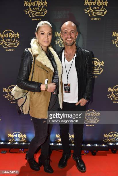 Peyman Amin and guest during the 15th anniversary celebration of the Hard Rock Cafe Munich on February 23 2017 in Munich Germany
