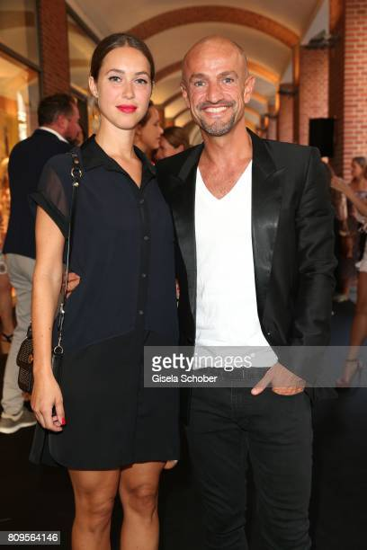 Peyman Amin and guest during the mytheresa summer cocktail and collection launch to celebrate 30 years of business with Prada on July 5 2017 in...