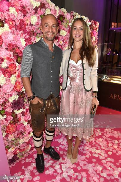 Peyman Amin and his partner Julia during the GlamWasen celebration in cooperation with Dresscoded at Armani Caffe at Fuenf Hoefe on September 1 2017...