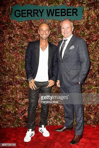 Peyman Amin and Karsten Oberheide attend the Gerry Weber shop opening on September 14 2016 in Munich Germany