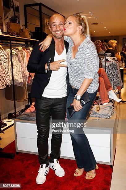 Peyman Amin and Magdalena Brzeska attend the Gerry Weber shop opening on September 14 2016 in Munich Germany
