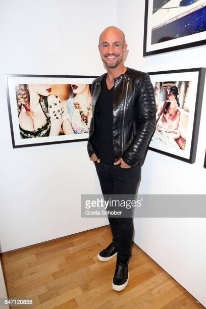 Peyman Amin during the 'Ellen von Unwerth HEIMAT' Exhibition Opening at Immagis Fine Art Photography gallery on September 14 2017 in Munich Germany