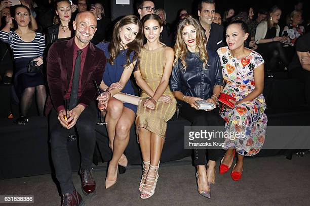Peyman Amin guest AnnKathrin Broemmel Cathy Hummels and Milka LoffFernandes attend the Maybelline Hot Trendsxhibition 2017 show during the...