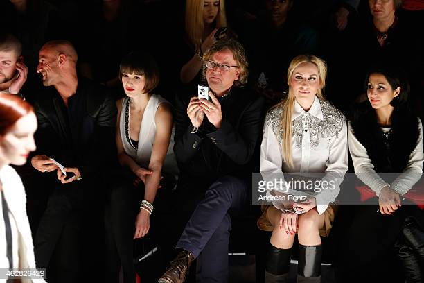 Peyman Amin Wanda Badwal Martin Krug and Elna zu Bentheim attend the Marcel Ostertag show during MercedesBenz Fashion Week Autumn/Winter 2014/15 at...