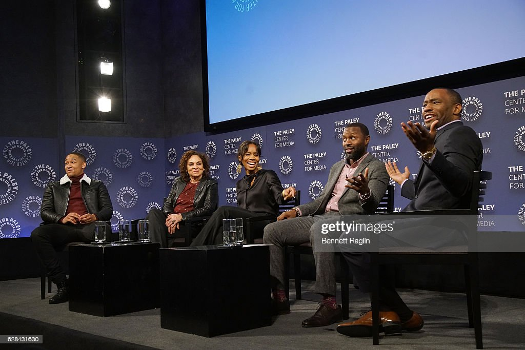 Peyton Alex Smith, Jasmine Guy, Anika Noni Rose, Rob Hardy, and Marc Lamont Hill attend BET Presents 'An Evening With 'The Quad'' At The Paley Center on December 7, 2016 in New York City.