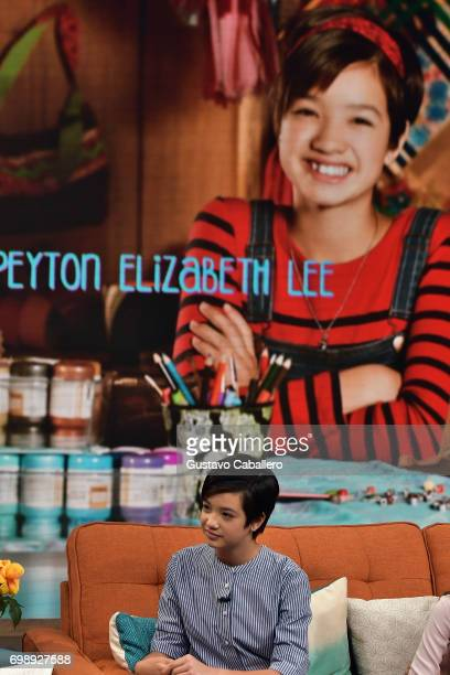 Peyton Elizabeth Lee is seen on the set of 'Despierta America' to promote 'Ani Mack' at Univision Studios on June 20 2017 in Miami Florida