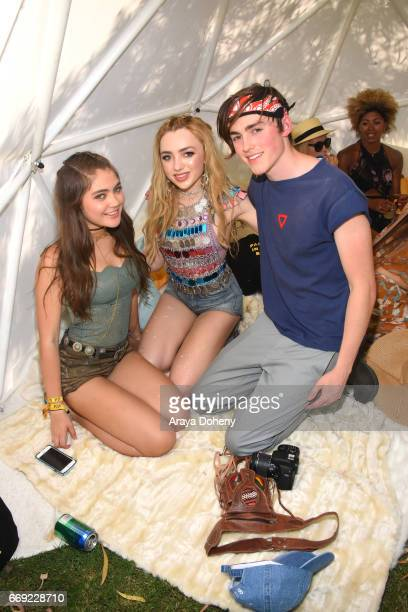 Peyton List and guests attend Winter Bumbleland Day 2 on April 16 2017 in Rancho Mirage California