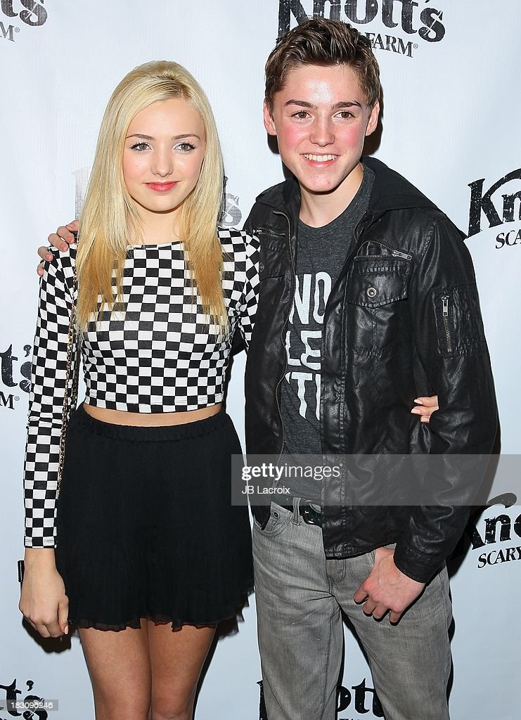 Peyton List and Spencer List attend the Knott's Scary Farm 'Haunt' VIP Opening Night Party at Knott's Berry Farm on October 3, 2013 in Buena Park, California.