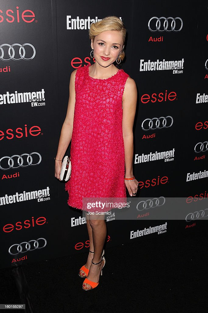 Peyton List arrives at Entertainment Weekly Screen Actors Guild Awards Pre-Party at Chateau Marmont on January 26, 2013 in Los Angeles, California.