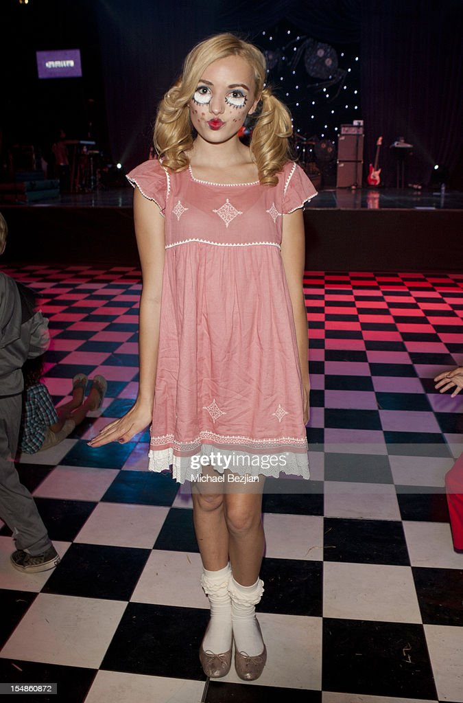 Peyton List attends Keep A Child Alive Presents 2012 Dream Halloween Los Angeles - Inside at Barker Hangar on October 27, 2012 in Santa Monica, California.