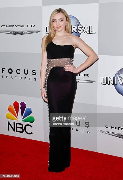 Peyton List attends NBCUniversal's 73rd Annual Golden Globes After Party at The Beverly Hilton Hotel on January 10 2016 in Beverly Hills California