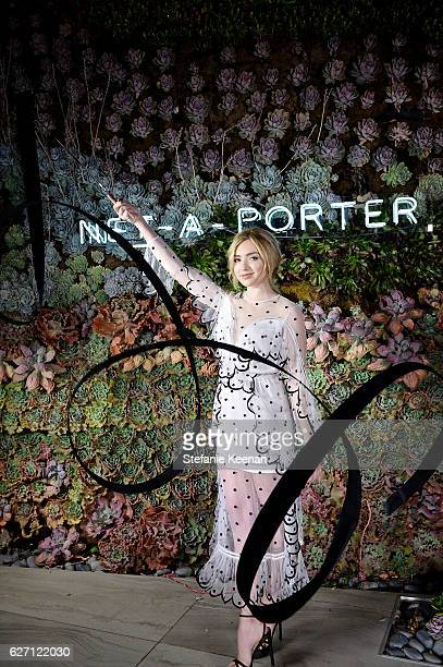 Peyton List attends NETAPORTER New Designers Cocktail on December 1 2016 in Los Angeles California