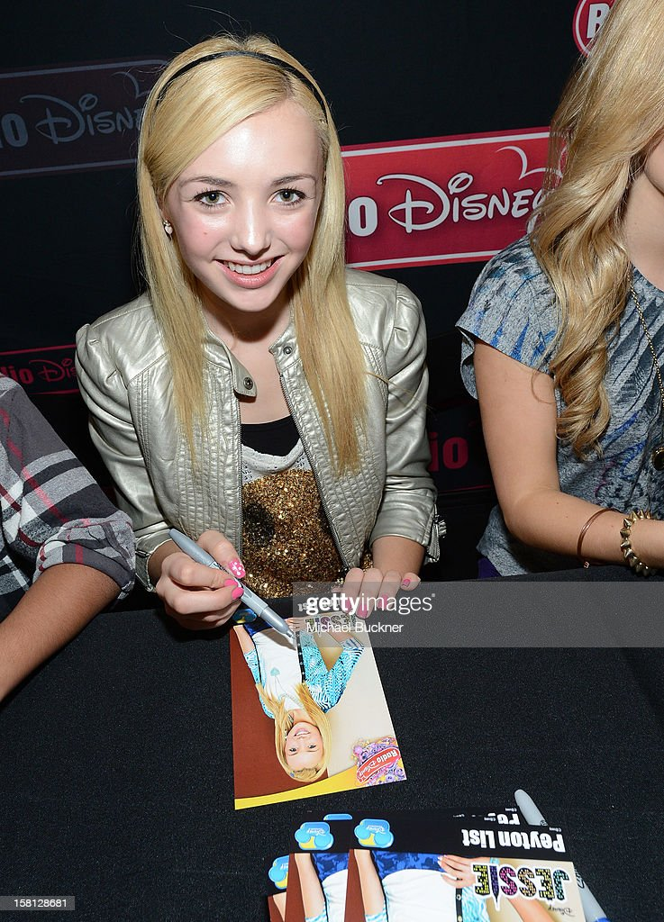 Peyton List star of the hit series 'Jessie' gets signs autographs for Radio Disney AM 1110 fans at the Wii U Showdown at Westfield Century City Mall in Los Angeles on December 9, 2012. Wii U is one of Nintendo's hottest items of the holiday season.