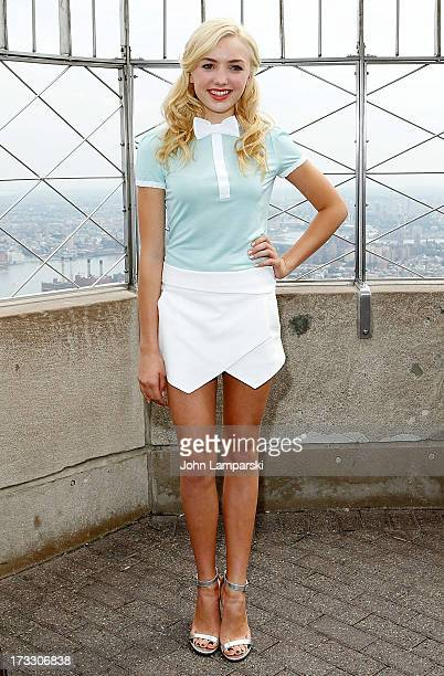 Peyton List visits at The Empire State Building on July 11 2013 in New York City