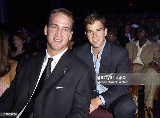 Peyton Manning and Eli Manning during 2004 ESPY Awards Backstage and Audience at Kodak Theatre in Hollywood California United States