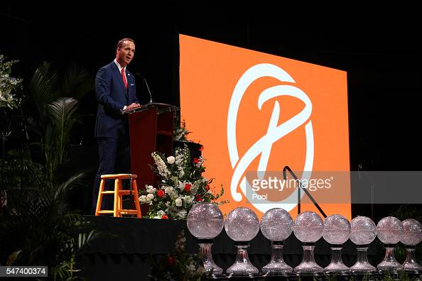 Peyton Manning during the Pat Summitt Celebration of Life at ThompsonBoling Arena on July 14 2016 in Knoxville Tennessee Summitt died June 28 at the...