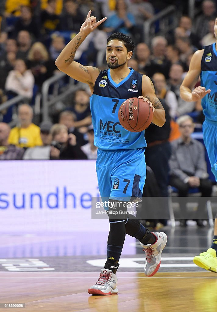 Peyton Siva of Alba Berlin reacts during the game between Alba Berlin and BC Khimki Moskau on october 26, 2016 in Berlin, Germany.