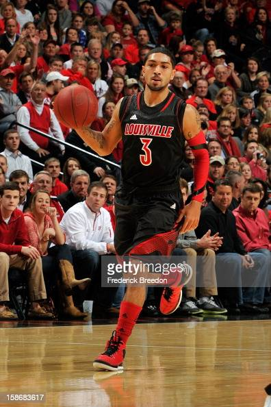 Peyton Siva of the Louisville Cardinals plays against of the Western Kentucky Hilltoppers at Bridgestone Arena on December 22 2012 in Nashville...