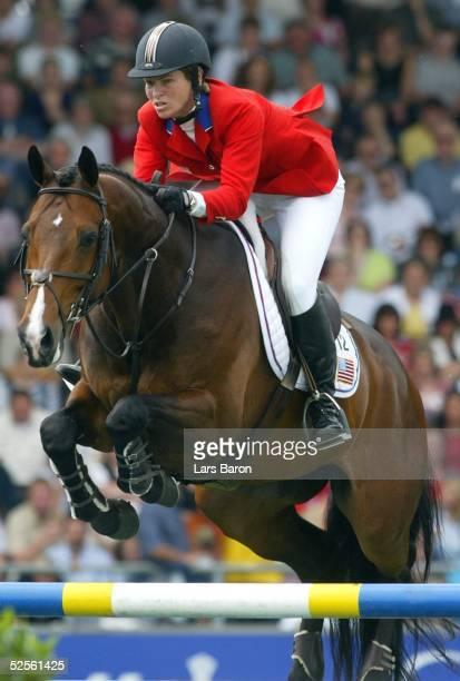 Pferdesport / Springreiten CHIO Aachen ' Preis der Nationen ' Aachen Beezie MADDEN / USA auf Authentic 160704