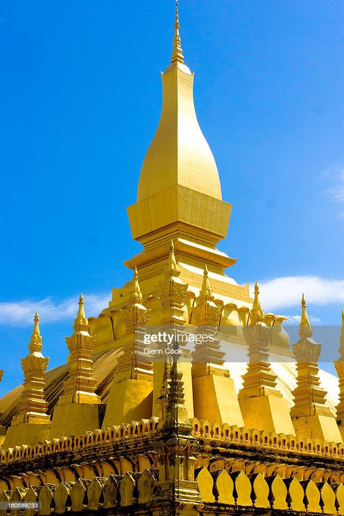 Pha That Luang - Laos, Vientiane : Stock Photo