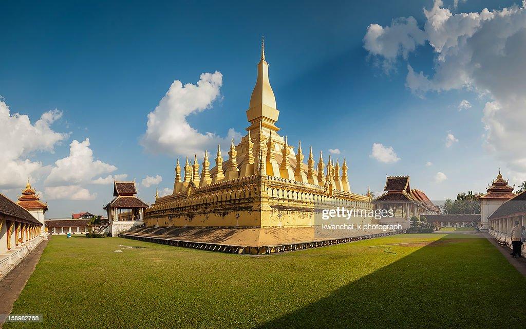 Pha That Luang Panorama : Stock Photo