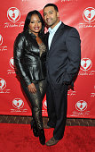 Phaedra Parks and Apollo Nida attend the opening night of 'A Mother's Love' at Rialto Center for the Arts on November 22 2013 in Atlanta Georgia