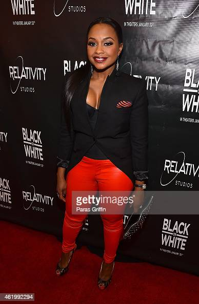 Phaedra Parks attends 'Black Or White' Red Carpet Screening at Regal Atlantic Station on January 22 2015 in Atlanta Georgia