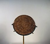 Phaistos Disc terracotta with symbolic signs arranged in a spiral on both sides front A side from the palace of Phaistos Crete Minoan civilisation...