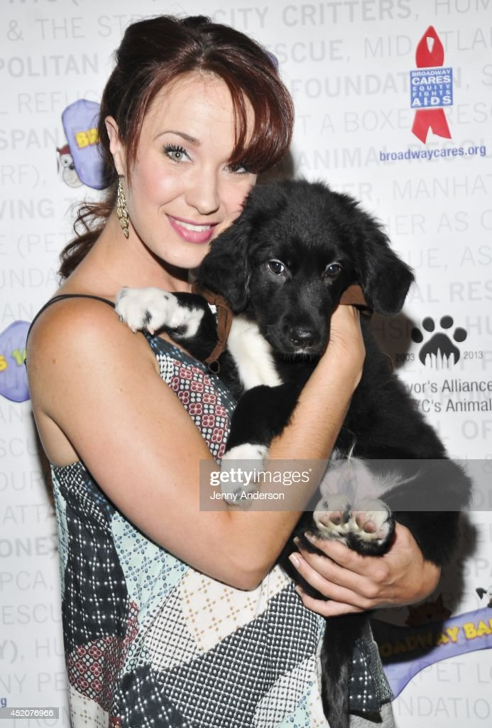 'Phantom of the Opera' star <a gi-track='captionPersonalityLinkClicked' href=/galleries/search?phrase=Sierra+Boggess&family=editorial&specificpeople=539375 ng-click='$event.stopPropagation()'>Sierra Boggess</a> attends Broadway Barks 16 at Shubert Alley on July 12, 2014 in New York City.