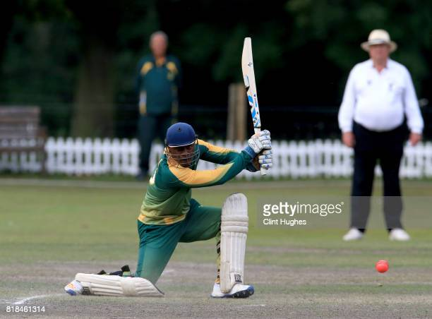 Phaphama Mthana of South Africa bats during the T20 INAS TriSeries against Australia at Toft Cricket Club on July 18 2017 in Knutsford England