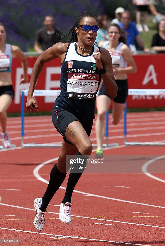 Phara Anacharsis of France wins the 400m hurdles final during the 2012 French Elite Athletics Championships at the Stade du Lac de Maine on June 17, 2012 in Angers, France.