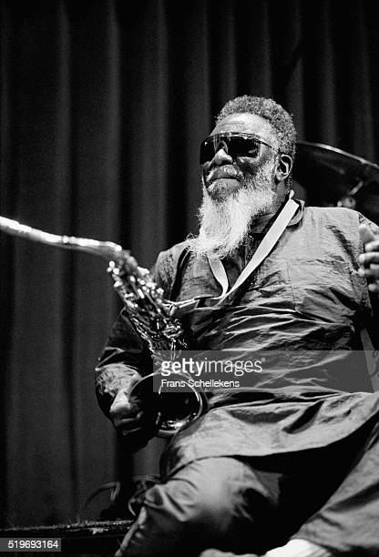 Pharaoh Sanders tenor saxophone performs on July 14th 1996 at the North Sea Jazz Festival The Hague Netherlands
