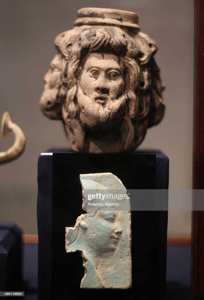Pharaonic artifacts that were recovered after being stolen from Egyptian museums' collections in 2011 and 2013 following the January 25 Revolution are displayed with a press conference at Egyptian Museum in Cairo, May 10, 2014.