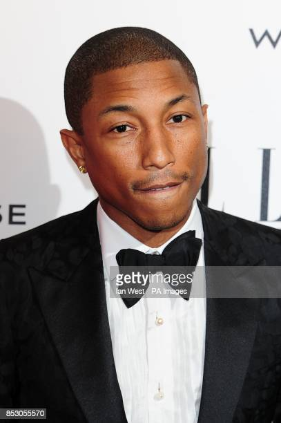 Pharell Williams at the 2014 Elle Style Awards at The One Embankment London