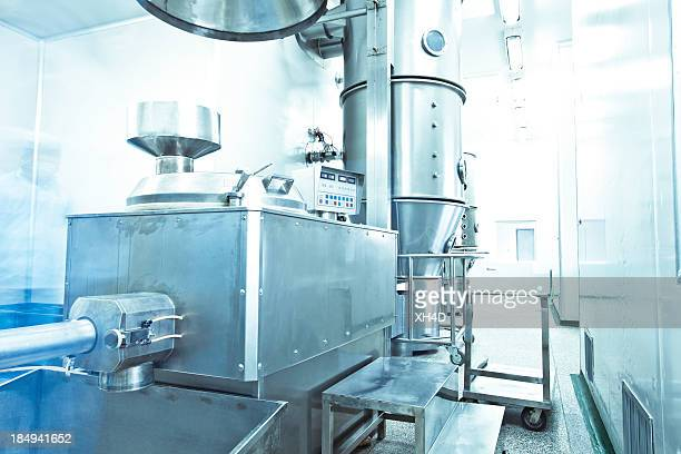 pharmaceutical factory equipment working