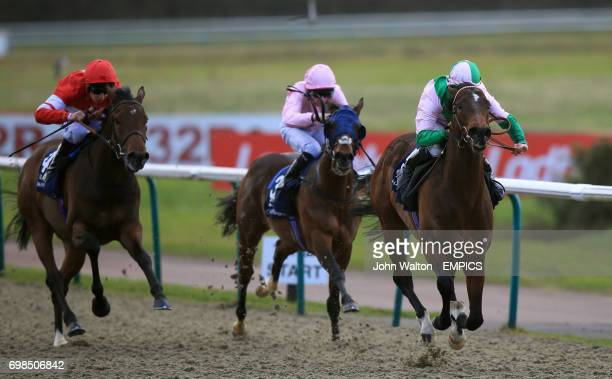 Pharmaceutical ridden by Jim Crowley comes home to win The Ladbrokes Maiden Stakes
