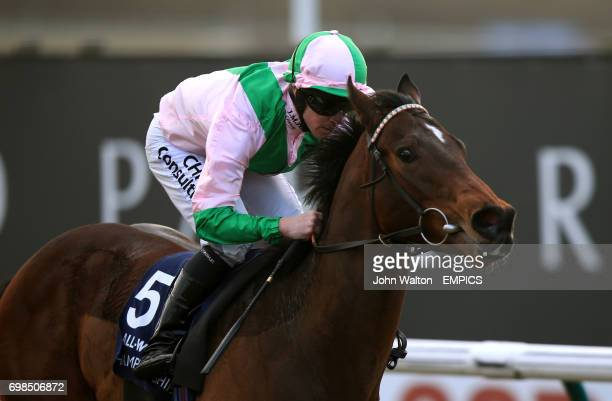 Pharmaceutical ridden by Jim Crowley wins The Ladbrokes Maiden Stakes
